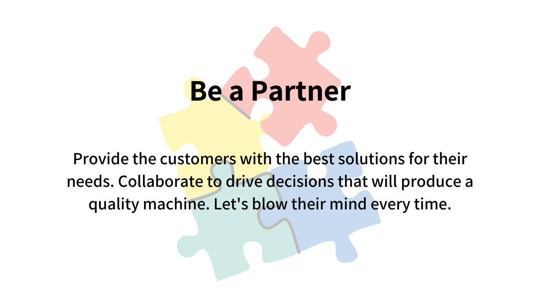 Be a partner