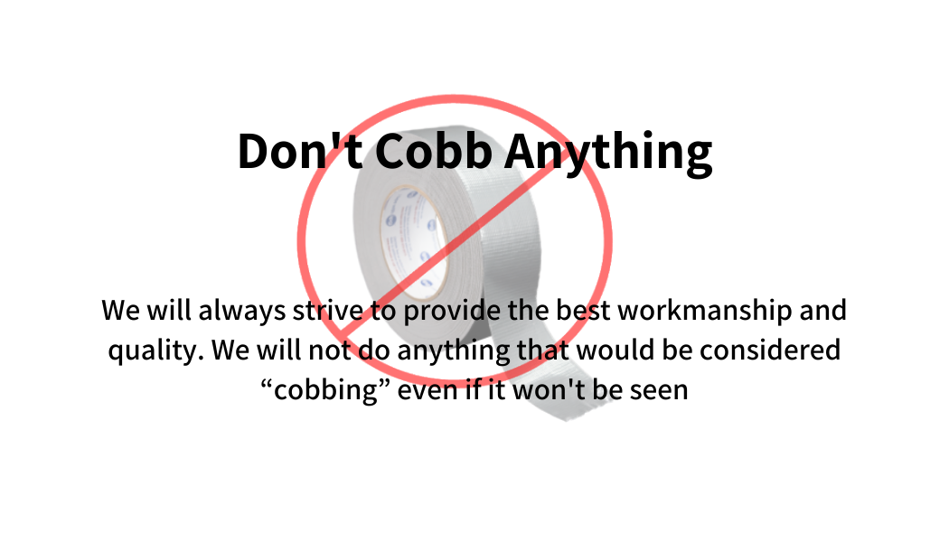 Don't cobb anything