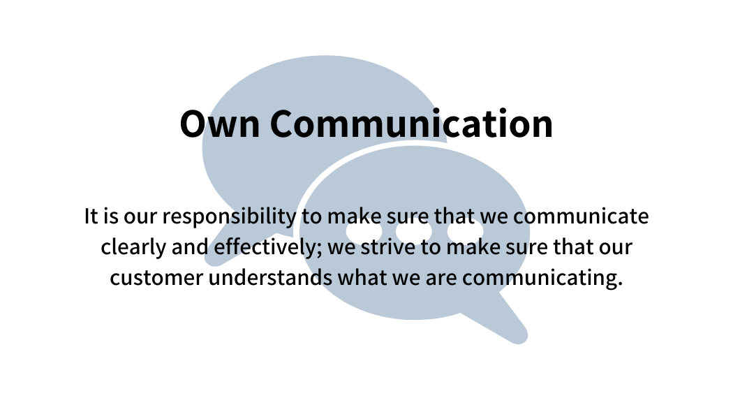Own communication
