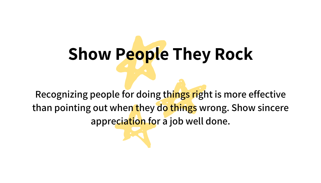 Show people they rock
